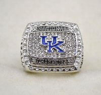 Three Stone Rings best us universities - free ship University of Kentucky Wildcats National Championship ring Replica size US best gift for fans collection High Quality