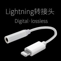 Wholesale For iPhone7 iPhone plus earphone converter cable mm aux audio female adapter to lighting male connector headphone headset charge cord