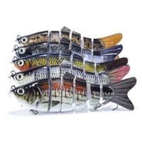 Wholesale Fishing Tackle Pesca Lifelike Fishing Lure Segments Fishing Wobblers Hard Swimbait with hooks cm D Eyes