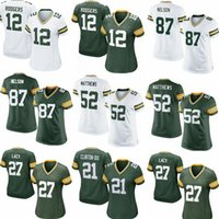 aaron rodgers jersey womens - Packers womens Jordy Nelson Haha Clinton Dix Eddie Lacy Clay Matthews Aaron Rodgers Green White football Jerseys