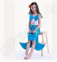 ariel toddler costume - LJJK168 little Mermaid Costume Toddler Kids Dress Girl Ariel Cosplay Princess Dresses Party Cosplay Costume Kids Fancy dress
