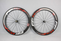 Wholesale Hot sale FFWD wheels mm wheelset straight pull Powerway R36 carbon hubs full carbon road bicycle bike wheels black red free gifts