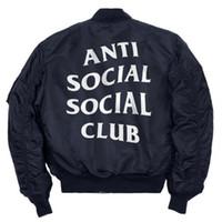 alpha male - Social Anti Social Club Bomber Cloak Male Hip Hop Hip Hop Skateboard Dikeni Pasteur Motorcycle Tour PILOTE Alpha MA1 Jacket Field Men Jacket