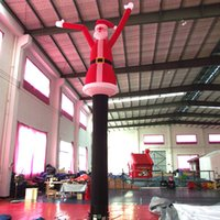 Wholesale China factory supply meters high infaltable sky air dancers Santa Claus inflatable dancing man for advertising