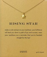 Wholesale Rising Star Dogeared Necklace Rising Star Noble and Delicate Jewelry K Gold Charm Necklace Pendant Necklace for Girls