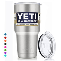 beer items - Yeti Cups Cooler Stainless Steel YETI Rambler Tumbler Cup Car Vehicle Beer Mugs Vacuum Insulated Refly oz oz oz Hot Item