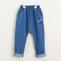 baggy dress pants - Girls Jeans Flower Harem Pants Blue Jeans Denim Trouser Children Jeans Girl Dress Baggy Jeans Child Clothes Kids Clothing Ciao C27263