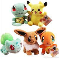 Wholesale New Poke Plush Toys Dolls Pikachu Plush Toys styles cm Poke Plush dolls Poke Go Stuffed Animals Toys Christmas toys D695