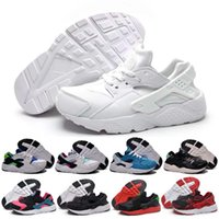 air hockey table kids - 2016 Black Red Air Huaraches Kids Running Shoes For Boys Girls White Blue Sneakers Huarache Children s Trainers Sport Shoes Size C Y