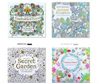 Wholesale 4 Design Secret Garden Coloring Book Kids Adults Gifts Drawing and Coloring Book Relieve Stress Kill Time Graffiti Painting Book