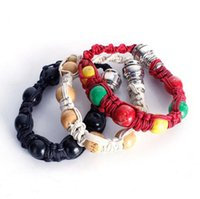 Wholesale FashionHand beaded rope pipe Metal smoking pipes with pipe screens aluminum pipe