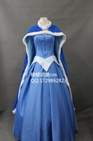 adult aurora costume - High Quality Custom Made Beautiful Sleeping Beauty Aurora Cosplay Princess Dress for Adults Christmas Dress With Cloak