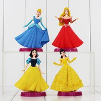 aurora model - Princess Snow White Cinderella Aurora Belle PVC Action Figure Collectable Model Toy for girls gift retail