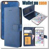 Cheap For Iphone 6 S Cases Iphone 6S Plus Wallet PU Leather Cover 2 in 1 Detachable With Card Slot Photo Frame For iPhone 5 5S Leather Pouch Case