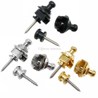 Wholesale Schaller Style Chrome Round Head Strap Lock Pin Peg Skidproof For Guitar Bass E00376 FASH