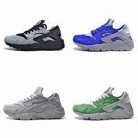 bamboo shoes flats - 2016 New High Quality Air Huarache Run PRM Reeline Bamboo Light Bone Grey Premium Varsity Royal Mica Green Huaraches Running Shoes for Mens