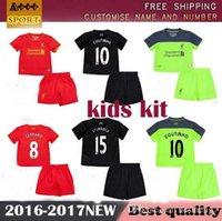 Wholesale new kids kit Liverpool Jerseys GERRARD BENTEKE LALLANA LUCAS COUTINHO FIRMINO STURRIDGE Away Home rd boys Football Shirts