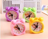 Wholesale Kawaii Pieces Cartoon Alarm Clock Double Hole Plastic Pencil sharpener Stationery Supplies For Gift Prize