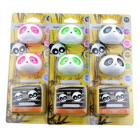 air condition vents - Panda Car Air conditioning Outlet Perfume Car Styling Air Freshener Vent Perfume Black Green Pink Brown Optional