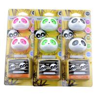 Precio de Car air freshener-Panda de coches Aire acondicionado perfume del enchufe del coche que labra el ambientador de aire de ventilación Perfume Negro Rosa Verde Marrón opcional