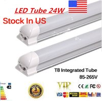 Wholesale LED Tube ft T8 MM Led Tube High Super Bright W Warm Cold White Led Fluorescent Bulbs AC85 V Led Tubes Lights lighting