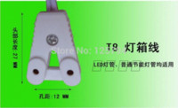Wholesale 10pcs free ship m long T8 T10 lightbox cables one end lamp holder aging crural line T8