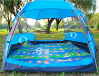Wholesale Top Brand Quality Double Layer Persons Rainproof six angle automatic outdoor tent for Hiking Fishing Hunting Adventure