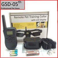 Wholesale 100 Level M Battery Electronic Dog Collar Remote Control Anti Bark Dog Shock Training Collar With LCD Display D
