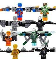 Wholesale 8 stlye Marvel iran man minifigures building blocks toys super hero action figures model kids toys