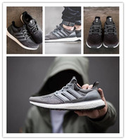 Wholesale 1 quality Consortium X Highsnobiety Ultra BOOST BLACK GREY sneakers for man and women shoes
