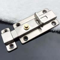 automatic door bolt - New Stainless steel Bathroom Toilet Door Automatic Spring Latch Slide Bolt Lock