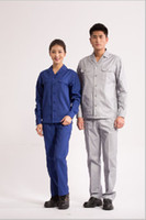 Wholesale Set of coat and pants brand new spring and summer men s and women s long sleeve work wear