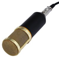 Wholesale High quality Professional Studio Condenser Sound Recording Microphone with Metal Shock Mount Kit for Recording black