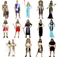al por mayor traje de las mujeres de baile reina-Traje de Egipto antiguo Traje de rey de la reina Faraón para los hombres Cosplay de las mujeres Props Carnaval de Halloween Suministros de fiesta de baile