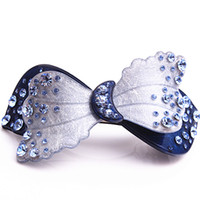arrive french - Hair Jewelry New Arrive Flower French Acetate Rhinestone Hair Clips crystal barrettes hairpins Hair Jewelry Hot sell