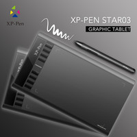 battery com - XP PEN Star03 Graphics Drawing Pen Tablet drawing Tablet Battery free Stylus Passive Pen Signature Painting writing Board Pad with Trans