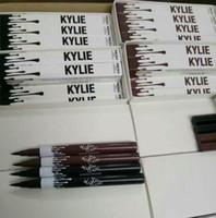Wholesale 2016 New Kylie Eyeliner Waterproof Black Browm Liquid Eyeliner Schwing Kylie Lip Kit Pencil Eyeliner Pen Beauty Cosmetics