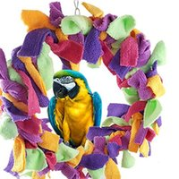 african grey toys - Purple Star Large Inch Parrot Preening Ring Fluffy Swing Toy For Large Pet Birds such as Macaws Cockatoos African Grey Parrots
