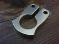 Wholesale EDC Gear ZH CNC Process MM Thickiness Vicissitudes Brass Knuckles Pendant Tactical Camping Climbing Keychain Pocket Tool