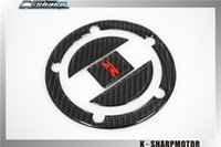 Wholesale 3D Carbon Fiber Tank Gas Cap Pad Filler Cover Sticker Decals Fit SUZUKI GSXR600 GSX R750 GSX1000R