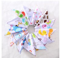 Wholesale Baby Bandana Scarf Bibs Feeding Triangle Cotton Kids Head Scarf Infant Bibs Burp Cloth Thicken Various Pattern Printed Wraps WA0004