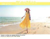 ball circumference - Bohemia Chiffon Summer Holiday Fashion BEACH V Neckline Long Dress Large Hem Circumference