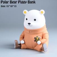 bear coin bank - 15cm Polar Bear Piggy Bank Classic Vinyl Store Money Coin Box