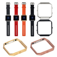 Wholesale 4 colors Replacement Polished Stainless Steel Metal Frame Holder Shell For Fitbit Blaze Smart Watch Accessories