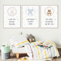 baby bears pictures - Modern Kawaii Animals Bear Elephant Quote Canvas A4 Art Print Poster Nursery Wall Picture Kids Baby Room Decor Painting No Frame