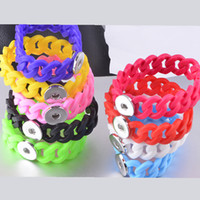 Wholesale New Arrival Silicone Bracelets With MM Snap Button Ginger Snap Noosa Bracelets