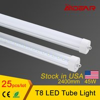 Cheap USA Stock 45W 8ft led tube light T8 2400mm AC85-277V FA8 single pin LED Fluorescent Tube Lamps 8 Feet