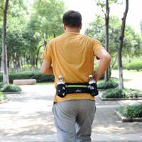 Wholesale Hot Outdoor Sports Running Belt Bag With Water Bottle Holder For iPhone S Plus Mobile Phone Walking Running Waist Belt Packs