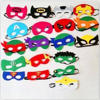 Wholesale Superhero masks Batman Spiderman Patrol Ninja Turtles Transformer Star Wars Christmas Masquerade Mask for Kids Halloween Party decoration