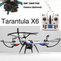 2015 Drone le plus récent! JJRC YiZhan Tarantula X6 2.4G 4CH IOC Quadcopter RC 5M Appareil photo LCD Display Drone